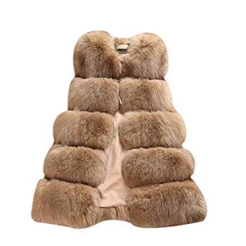 E Gilet Camel Senza Per Maniche Donna Affascinante Elegante Laozan Sposare Ricevimenti Cappotto Banchetti 7w4qY
