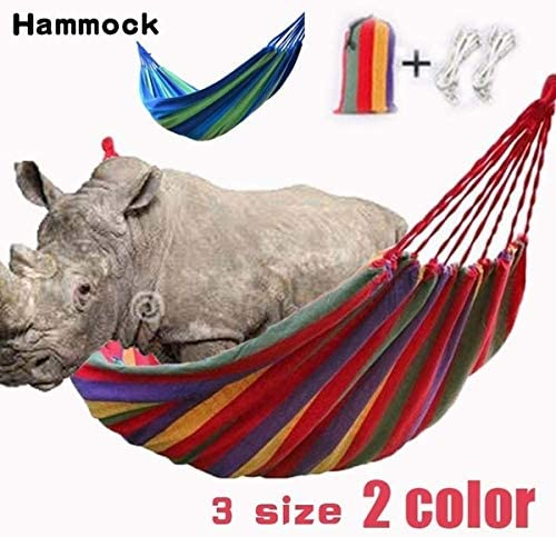 litymitzromq Outdoor Leisure Courtyard Hammock,Outdoor Portable Rainbow Hammock Light Weight Camping Travel Swing Hang Bed Blue 190X150cm
