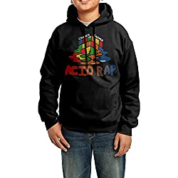 YHTY Youth Boys/Girls Hoodie Chance The Rapper Acid Rap Black Size XL