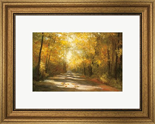 Gap Road by Julia Purinton Framed Art Print Wall Picture, Wide Gold Frame, 20 x 16 - Frames Country Road Glasses