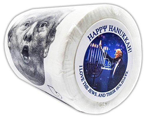 "Buttswipes DONALD TRUMP ""Happy Hanukkah"" Toilet Paper Funny Gag Gift Stocking Stuffer"