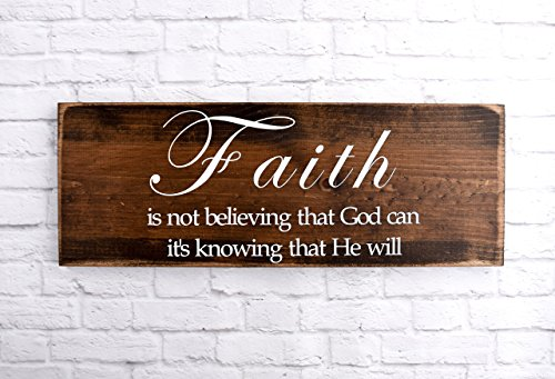 Wood Faith Sign - Christian Wooden Wall décor – Bible Verse Plaque