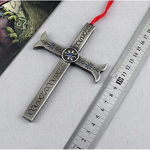 One Piece Eagle Eye Cross Knife Knife Eagle Eye Keychain One Piece Eagle Eye replica sword prop cosplay,key ring, Halloween ,birthday Gifts For Children Kids Collection (Piece Replica One)
