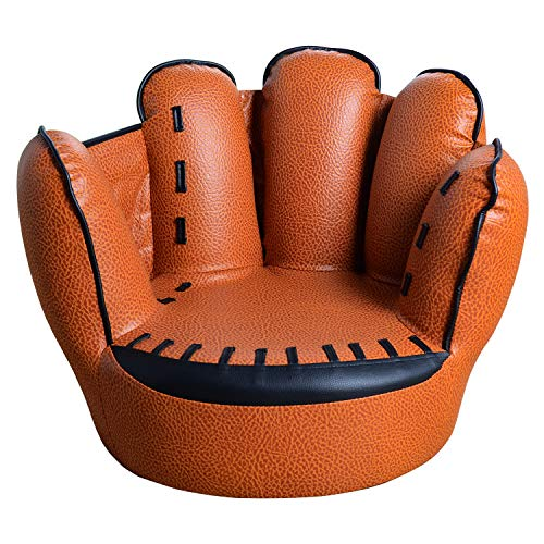 TV Chairs for Kids Baseball Glove Sofa Five Finger Style Toddler Armchair Living Room Reading Lounge Bedroom Seat Chair Boys Brown