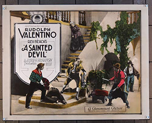 Sainted Devil, A (1924) Original Paramount Pictures Half-Sheet Movie Poster 22x28 Never folded RUDOLF VALENTINO Film Directed by JOSEPH HENABERY Silent Film