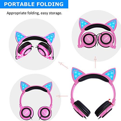 Cat Ear Headphones,barsone Kids Headphones Wired Foldable On Ear ...