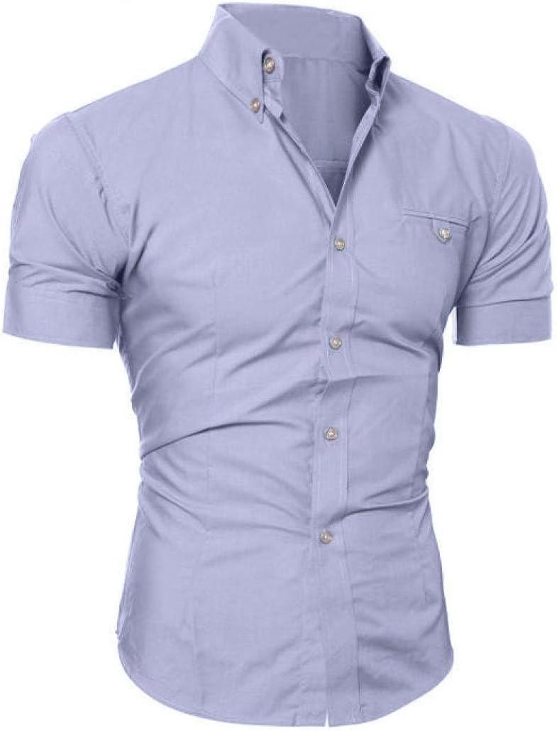 Camisa Casual de Manga Corta con Estilo Slim Fit Elegante de Lujo para Hombres: Amazon.es: Ropa y accesorios