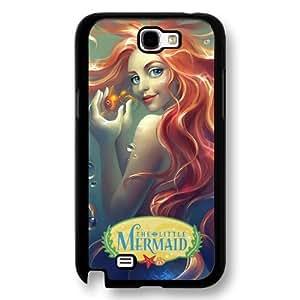 The Little Mermaid Ariel Classic Disney Cartoon Movie Hard Plastic Phone Case Cover for Samsung Galaxy Note 2 - Black