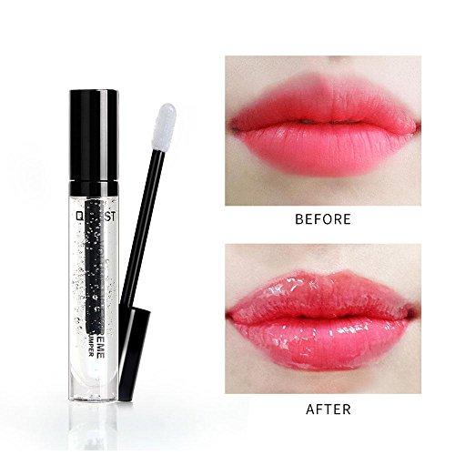 FOONEE Lip Plumper Lip Gloss All Natural Lip Plumper Serum Treatment,Clear Lip Plump Gloss-Hydrating,Moisturizing,Diluting Lips Dryness Wrinkles -