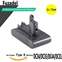 FUZADEL 2200mAh 22.2v Battery for Dyson Cordless DC44 animal battery DC34 DC35 DC45 Vacuum Clearner Type B