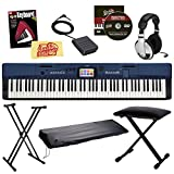 Casio Privia Pro PX-560 88-Key Digital Piano Bundle with Bench, Keyboard Stand, Dust Cover, Sustain Pedal, Headphones, Instructional Book, Instructional DVD, and Polishing Cloth - Blue