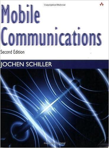 Mobile communications (second edition) by jochen h. Schiller.