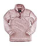 Boxercraft Adult Super Soft 1/4 Zip Sherpa Pullover-Snowy Garnet-large