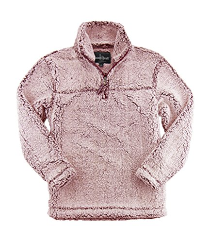 Shirt Garnet Womens (Boxercraft Adult Super Soft 1/4 Zip Sherpa Pullover-Snowy Garnet-large)