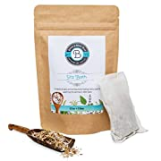Postpartum Pads and Hemorrhoid Relief Sitz Bath Soak by Birds & Bees Teas - Organic Herbal Bath - External tea for Soothing and Healing Pain Relief. Includes 4 sachets you can freeze or use warm