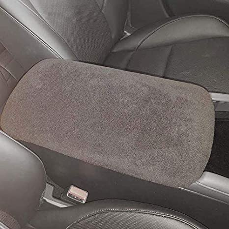 Car Console Covers Plus Made in USA Fleece Center Armrest Console Cover Designed for Audi RS5 2018-2019 Models Black