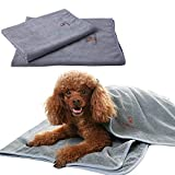 """SCENEREAL Microfiber Dog Absorbent Bath Towels 2 Pcs/Set Grooming House Bathroom Quick Drying Towel Best for Small to Large Dogs Cats Pets Size 24"""" x 32"""" and 32"""" x 39"""""""