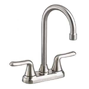 American Standard 2475.500.075 Colony Soft 2-Handle High-Arc Bar Faucet, Stainless Steel