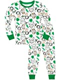 Harry Bear Boys Pyjamas King of The Jungle Snuggle Fit White Age 2 to 3 Years