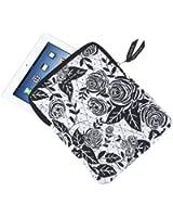 Bella Taylor Rose Pop Quilted Tablet Case for iPad, Nook, Kindle