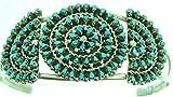 By Zuni Artist Trudy Quetawki small size Needle point Genuine Turquoise Cuff Bracelet