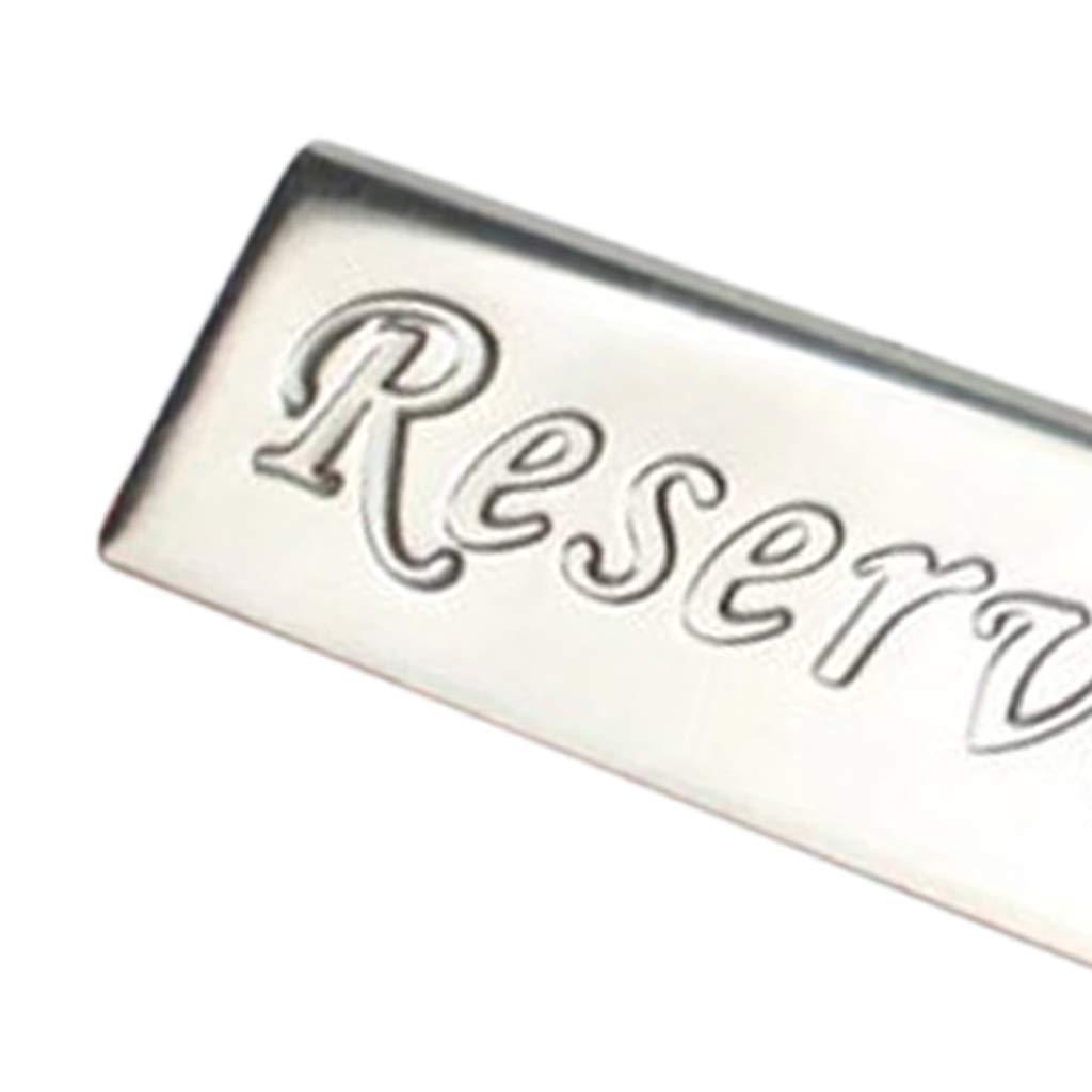 Fenteer Reserviert-Schilder Tischaufsteller f/ür Gastronomie Tischreservierung