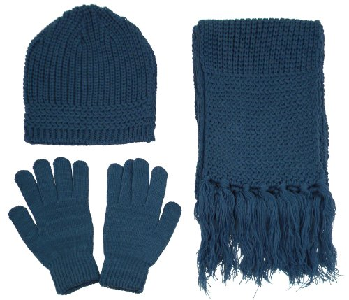Simplicity Winter Snowflake Gloves Beanie