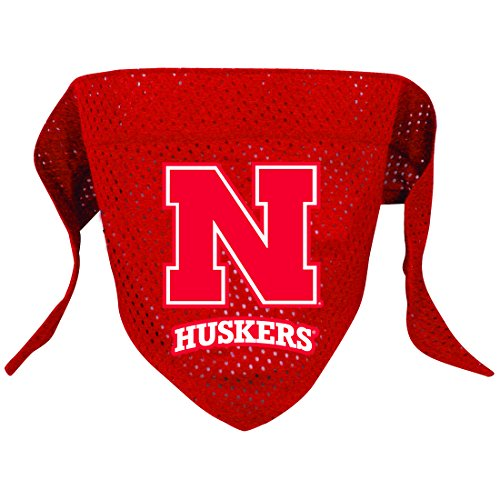 NCAA Nebraska Cornhuskers Pet Bandana, Team Color, Small