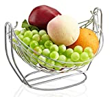 LFHT Stainless Steel Fruit Basket Bowl for Home Kitchen Office