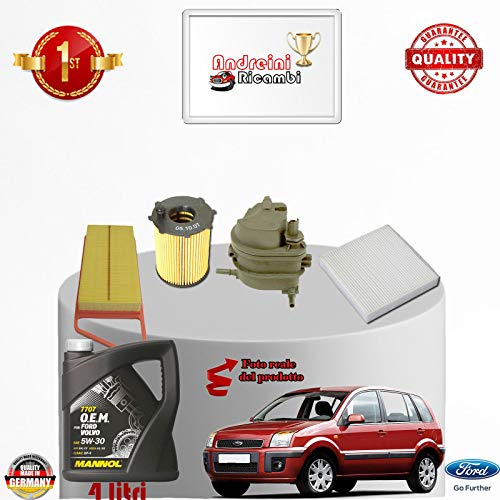 Service kit filters + fuel oil 1.4 TDCI 50KW 68CV from 2004 -> 2012: