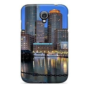 Special DennisEM Skin Case Cover For Galaxy S4, Popular Boston Skyline Phone Case