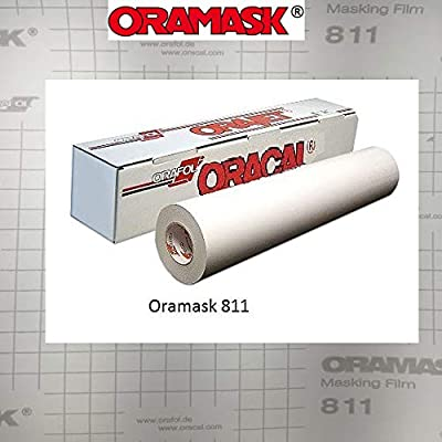 Greenstar ORAMASK 811 Paint/Spray Mask Stencil Film, 8 mil, Low-tack, Removable Adhesive