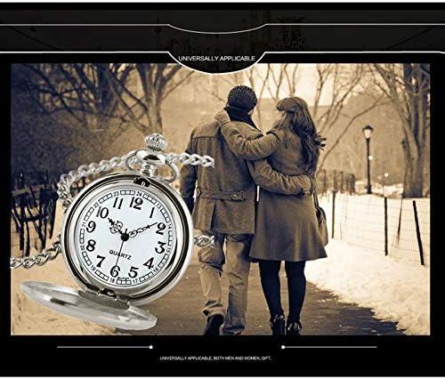 Zhaozhe 懐中時計 アンティーク 蓋つき 男女兼用 ポケットウォッチ 看護師 文字盤 見やすい 大きい 文字 ナースウォッチ