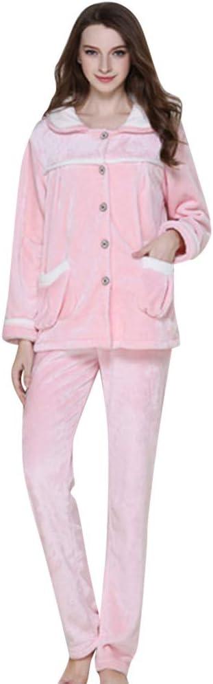 MCYs Conjunto Pijama Mujer Chándal Caliente Ropa de Noche ...