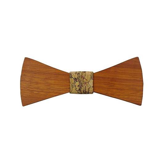 YAOSHI-Bow tie/tie Corbatas y Pajaritas para La Madera Natural ...