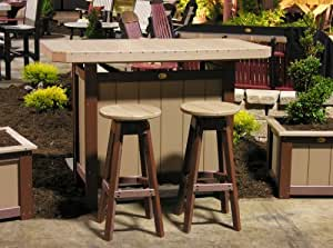Outdoor Polywood Serving Bar - BAR ONLY - YELLOW Color
