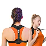 Back Brace Posture Corrector for Women Men and Kids - Medical Cushion Support Brace - Natural High Flat Lumbar Low Neck Lower Shoulder Body Pain Scoliosis Kyphosis Orthopedic Comfort by Join2Top