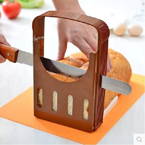 Compra BESTOMZ Corte de pan Plegable para hornear pan Sandwich pan cortadora pan tostado rebanada cortador rodajas en Amazon.es