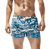 NUWFOR Men's Shorts Swim Trunks Quick Dry Beach Surfing Running Swimming Watershort