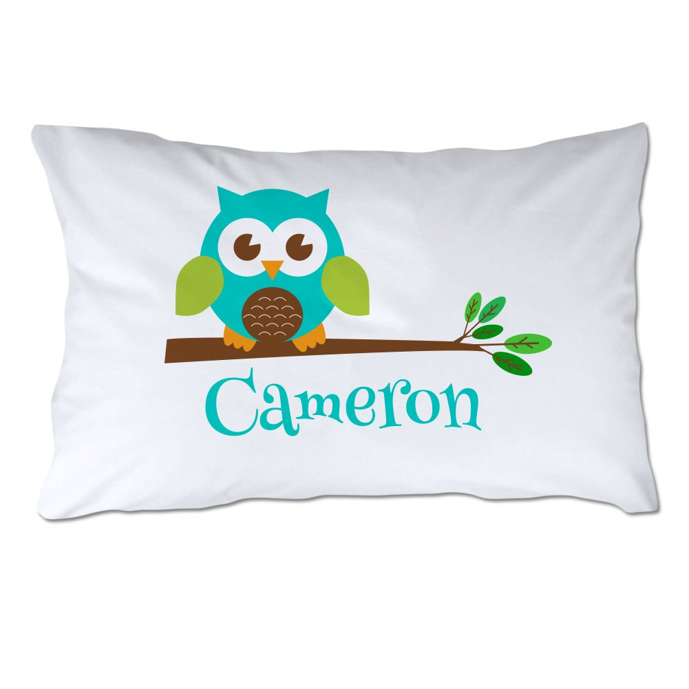Personalized Toddler Size Owl Pillowcase with Pillow Included