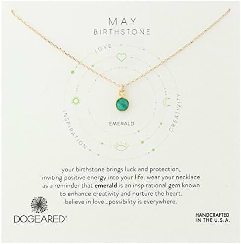 Dogeared Sterling Silver Bezeled Birthstone Pendant Necklace, 16