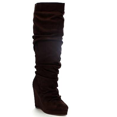 Amazon.com   Spirit Moda Emma-1 Women's Slouchy Platform Wedge ...