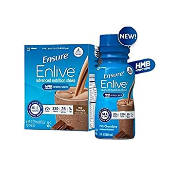 Ensure Enlive Advanced Therapeutic Nutrition Shakes, Chocolate 8-oz Bottles – 1 Case of 24