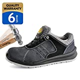 SAFETOE Men's Work Safety Shoes,Lightweight Sport Industrial and Construction Composite Toe Work Shoes,Gray,11 D(M) US/44EU