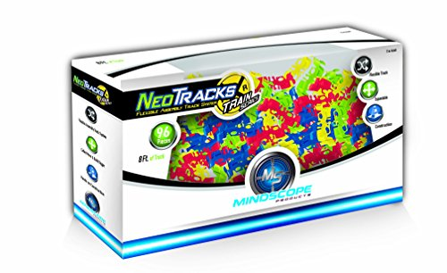Mindscope Neo Tracks Train 96 Piece (8 feet) Train Track Add On Twister Tracks