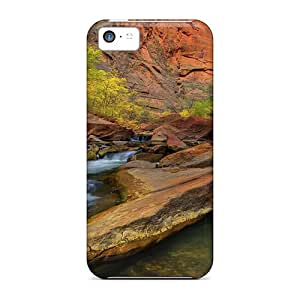 Fashion Protective Canyon Stream In Zion National Park Cases Covers For Iphone 5c