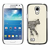 TopCaseStore / Snap On Hard Back Shell Rubber Case Protection Skin Cover - Cat Newspaper Art Number 35 India Feline - Samsung Galaxy S4 Mini i9190 MINI VERSION!