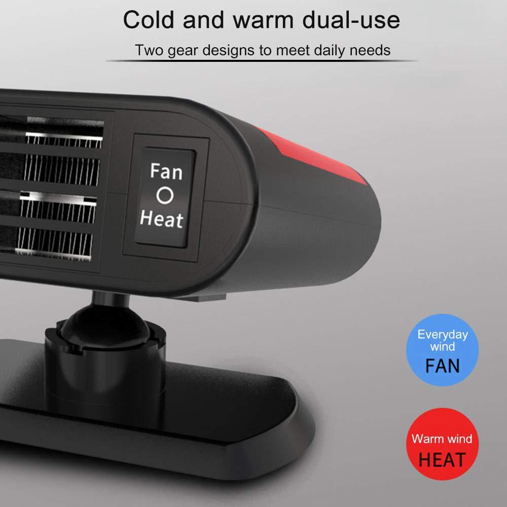 Perfuw riscaldatore portatile per auto 12 V 150 W con funzione di purificazione dellaria anti-appannamento per parabrezza dellauto ventola di riscaldamento che si inserisce nellaccendisigari