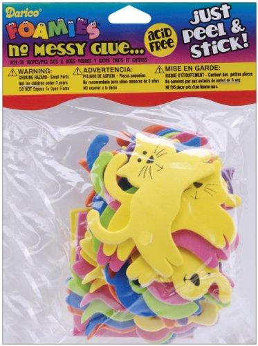 Darice Foam Stickers 160/Pkg-Cats & Dogs
