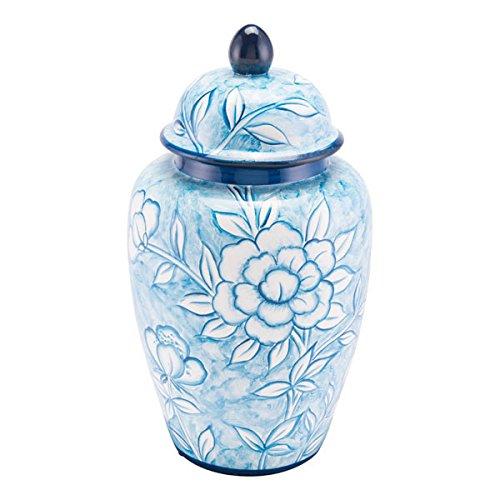 Zuo Flower Temple Jar Large White /& Blue Zuo Modern A11079